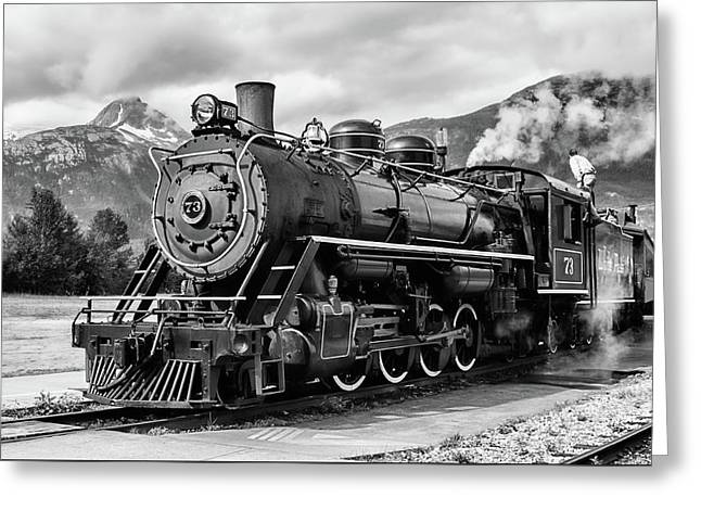 Engine 73 Greeting Card by Dawn Currie