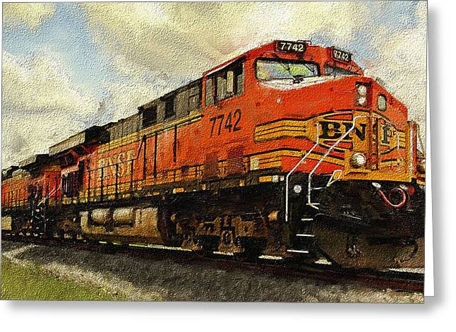 Engine 7742 Greeting Card by Ken Gimmi