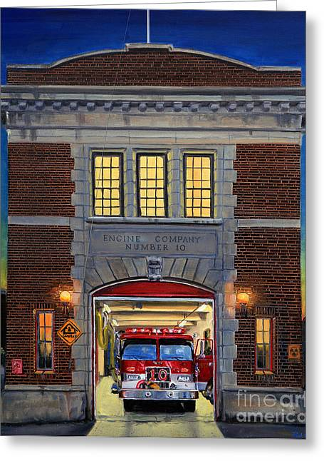 Engine Company 10 Greeting Card by Paul Walsh