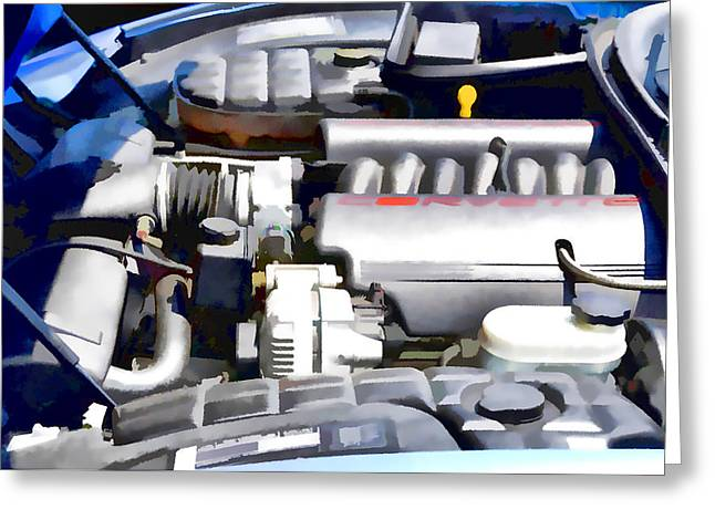 Engine Compartment 1 Greeting Card by Lanjee Chee