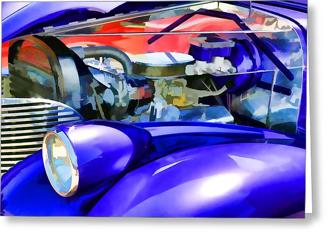 Engine Compartment 11 Greeting Card by Lanjee Chee
