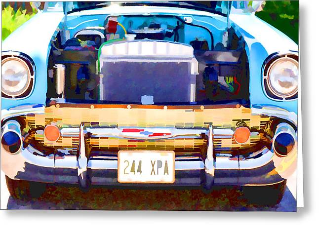 Engine Compartment 12 Greeting Card by Lanjee Chee
