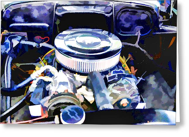 Engine Compartment 2 Greeting Card by Lanjee Chee