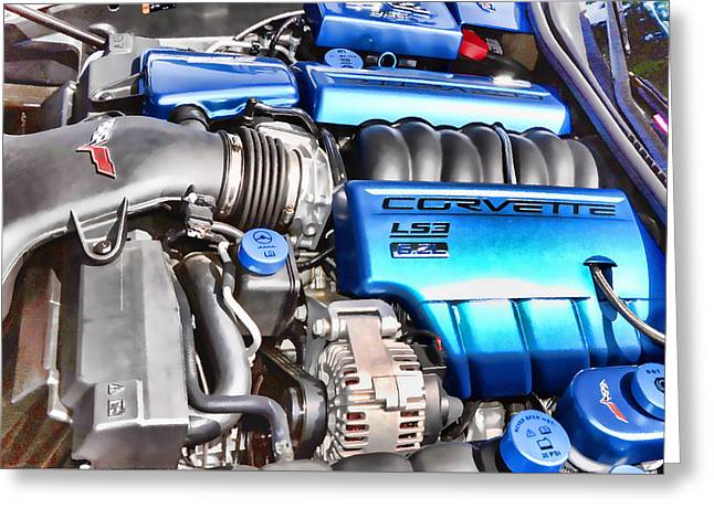 Engine Compartment 4 Greeting Card by Lanjee Chee