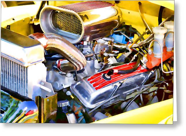 Engine Compartment 5 Greeting Card by Lanjee Chee