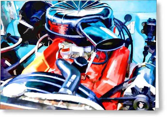 Engine Compartment 6 Greeting Card by Lanjee Chee