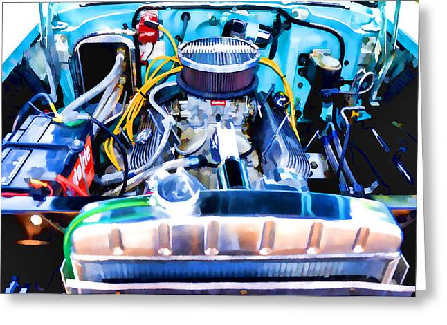 Engine Compartment 7 Greeting Card by Lanjee Chee