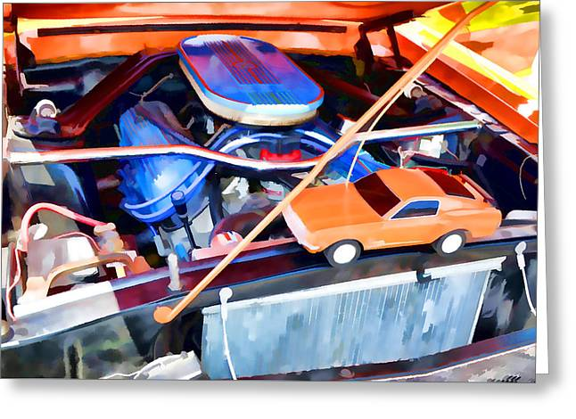 Engine Compartment 8 Greeting Card by Lanjee Chee