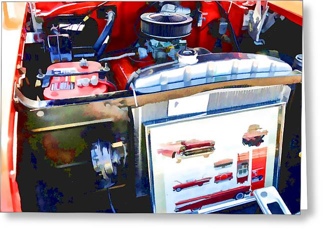 Engine Compartment 9 Greeting Card by Lanjee Chee