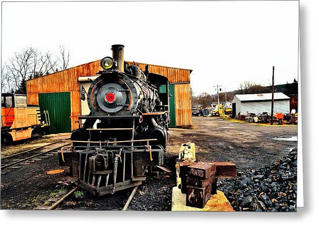 Engine Number 18 Greeting Card by Charles J Pfohl