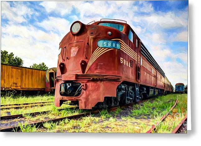 Engine Number 5888 Greeting Card by Mel Steinhauer