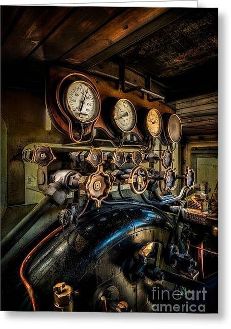 Engine Room Greeting Card by Adrian Evans