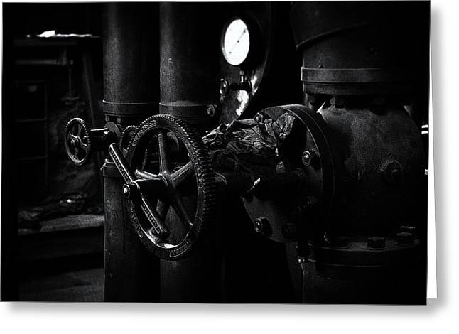 Greeting Card featuring the photograph Engine Room by Tim Nichols