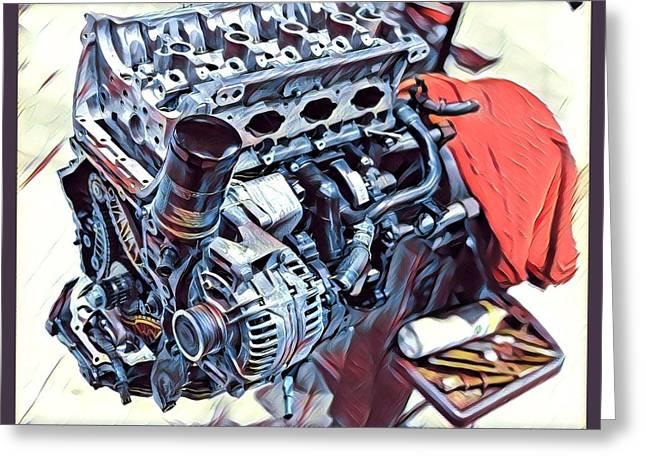 Engine  Greeting Card