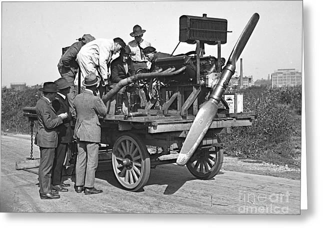 Engine Test 1922 Greeting Card by Padre Art