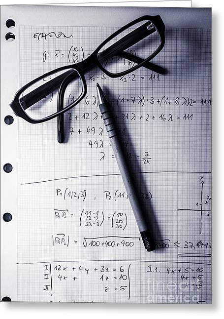 Engineering Student Calculations Greeting Card by Jorgo Photography - Wall Art Gallery