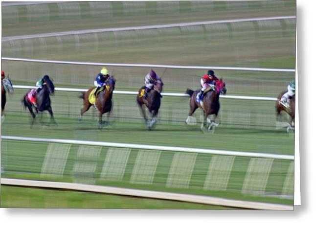 Engineering The Winning Horse Greeting Card