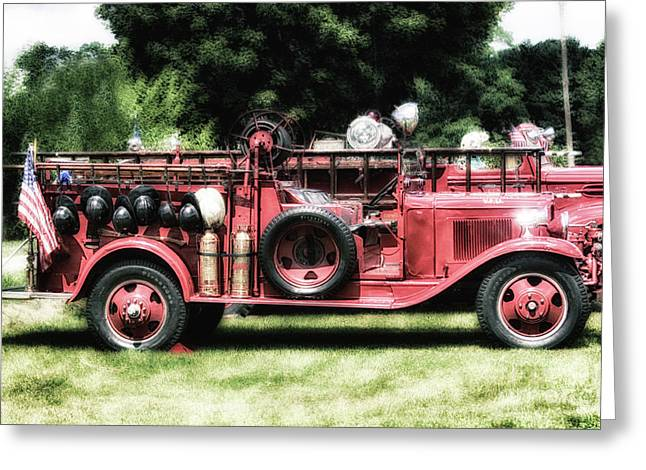 Engines Of Fire Greeting Card by Steven Digman