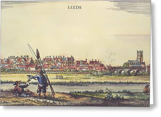 Engraving Greeting Cards - England: Leeds, 1715 Greeting Card by Granger
