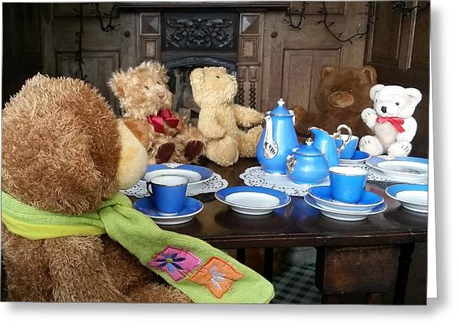 England - Picnic With The Teddy Bears Greeting Card by Jeffrey Shaw