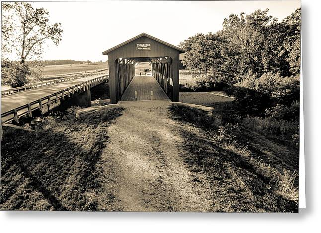 Engle Mill Covered Bridge Greeting Card