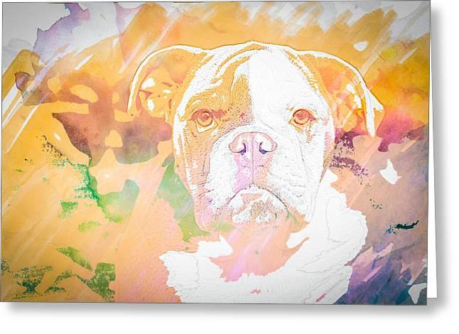 English Bulldog Wc Greeting Card