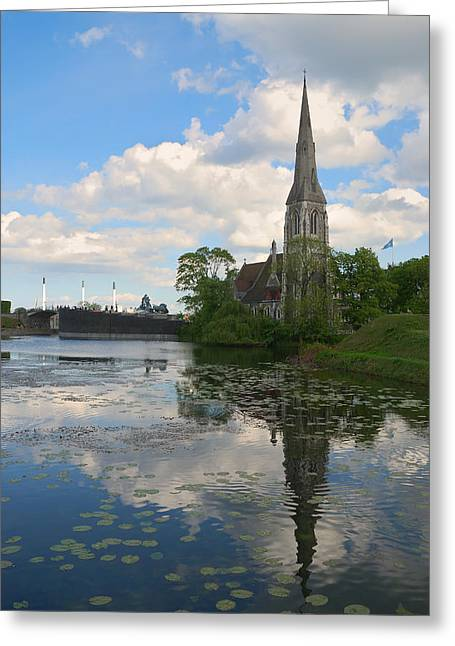 Greeting Card featuring the photograph English Church In Copenhagen by Steven Richman