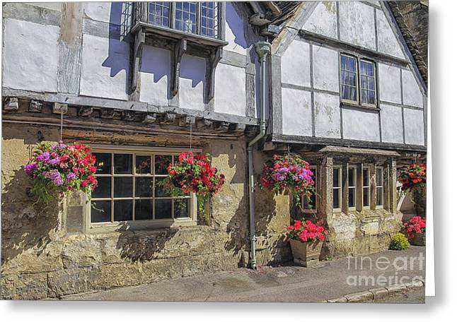 English Cottages Greeting Card by Patricia Hofmeester