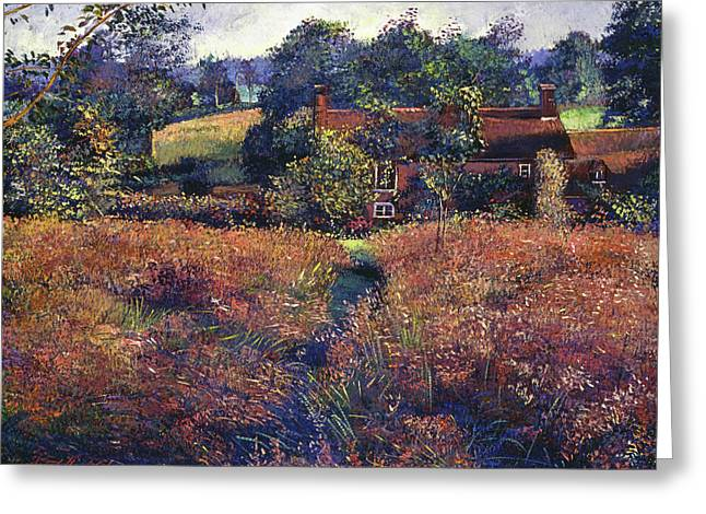 English Country Fields Greeting Card by David Lloyd Glover