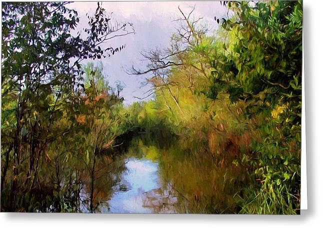 English Country Garden Greeting Card by Georgiana Romanovna