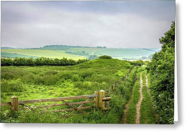 English Country Landscape 2 Greeting Card