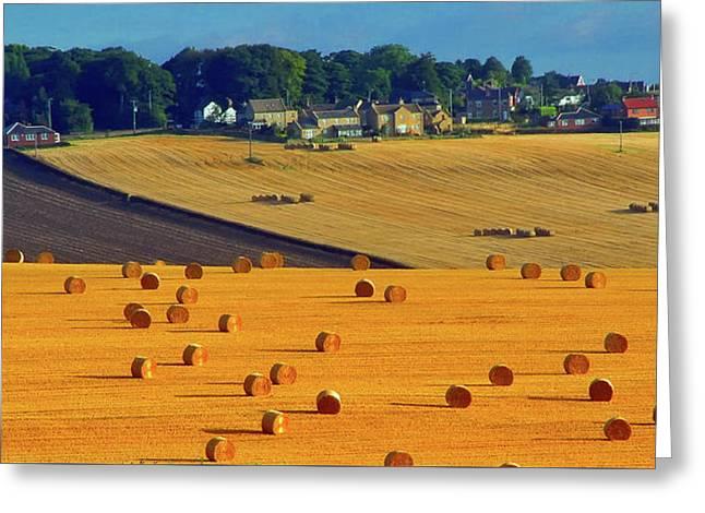 English Countryside Panorama Greeting Card