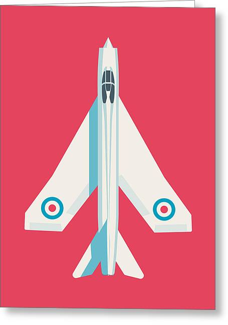 English Electric Lightning Fighter Jet Aircraft - Crimson Greeting Card by Ivan Krpan
