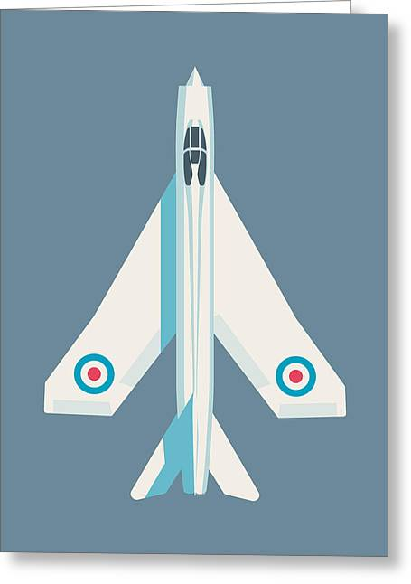 English Electric Lightning Fighter Jet Aircraft - Slate Greeting Card