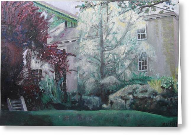 English Estate Greeting Card by Keith Bagg