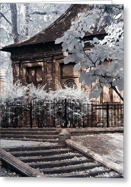 English Garden House Greeting Card