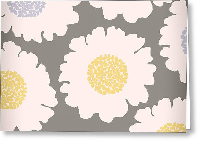 English Garden White Flower Pattern Greeting Card by Mindy Sommers