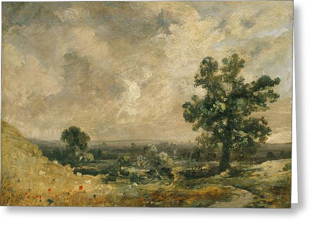 English Landscape Greeting Card by John Constable