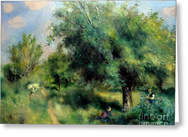 English Pear Tree, Orchard At Louveciennes, Le Poirier D'anglete Greeting Card by Peter Barritt