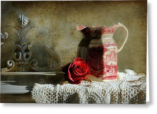 English Rose Water  Greeting Card by Diana Angstadt
