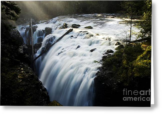 Englishman Falls Greeting Card by Bob Christopher