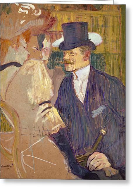 Englishman Greeting Card by Henri de Toulouse-Lautrec