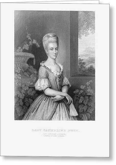 Engraved Portrait Of Lady Catherine Duer, Circa 1780 Greeting Card by Craig McCausland