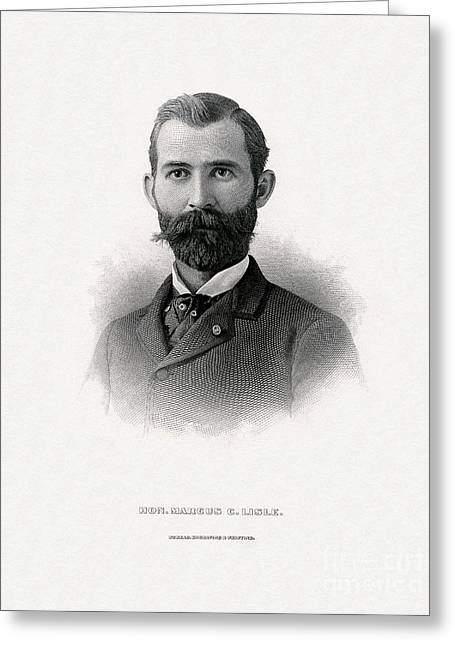 Engraved Portrait Of Rep. Marcus C. Lisle Greeting Card