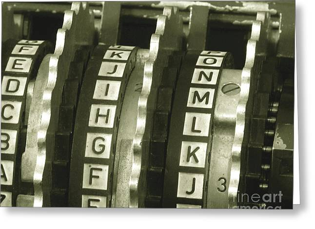 Enigma Cipher Machine Greeting Card by English School