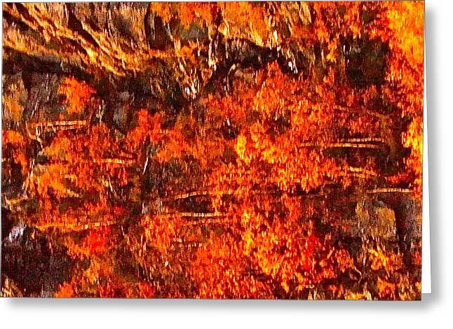 Enigma Orange Greeting Card by Chris  Riley