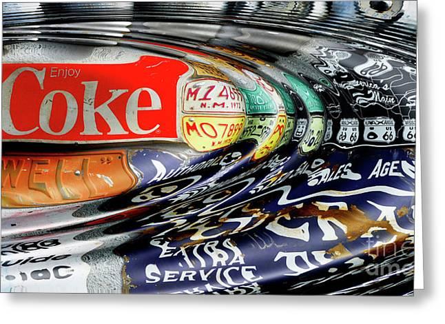 Enjoy Coca-cola Greeting Card by Bob Christopher