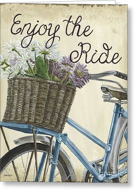 Enjoy The Ride Vintage Greeting Card by Debbie DeWitt