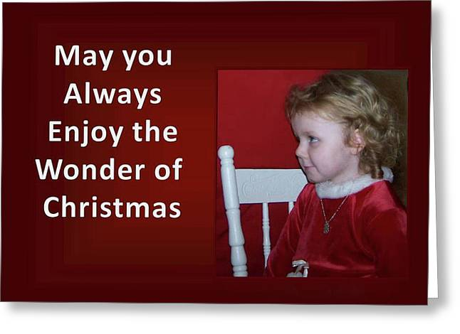 Greeting Card featuring the digital art Enjoy The Wonder Of Christmas by Sonya Nancy Capling-Bacle