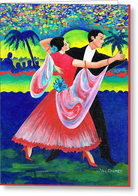 Enjoyable Waltz Greeting Card by Val Stokes